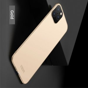 Mofi Slim Armor Матовый жесткий пластиковый чехол для iPhone 11 Pro Max - Золотой