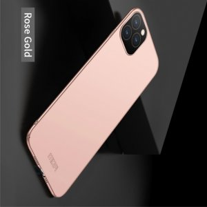 Mofi Slim Armor Матовый жесткий пластиковый чехол для iPhone 11 Pro Max - Ярко-Розовый