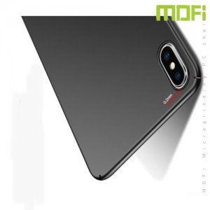 Mofi Slim Armor Матовый жесткий пластиковый чехол для iPhone XS Max - Черный