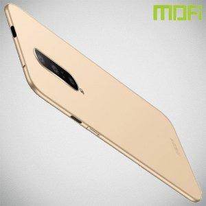 Mofi Slim Armor Матовый жесткий пластиковый чехол для OnePlus 7 Pro - Золотой
