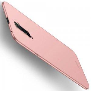 Mofi Slim Armor Матовый жесткий пластиковый чехол для OPPO Reno 2 Z - Светло-Розовый