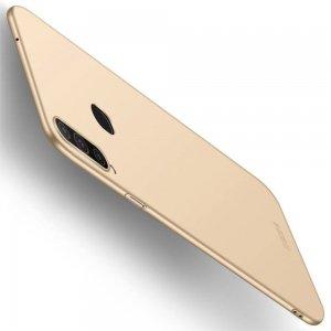Mofi Slim Armor Матовый жесткий пластиковый чехол для Samsung Galaxy A20s - Золотой