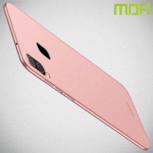 Mofi Slim Armor Матовый жесткий пластиковый чехол для Samsung Galaxy A40 - Розовое Золото