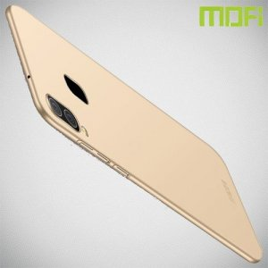 Mofi Slim Armor Матовый жесткий пластиковый чехол для Samsung Galaxy A40 - Золотой