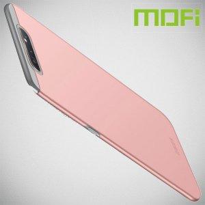 Mofi Slim Armor Матовый жесткий пластиковый чехол для Samsung Galaxy A80 / A90 - Розовое Золото