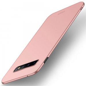 Mofi Slim Armor Матовый жесткий пластиковый чехол для Samsung Galaxy S10 - Светло Розовый