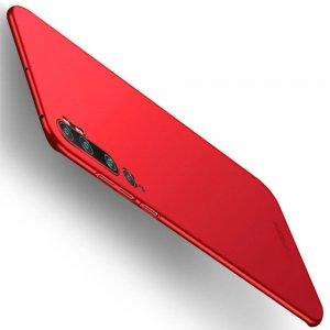 Mofi Slim Armor Матовый жесткий пластиковый чехол для Xiaomi Mi Note 10 - Красный