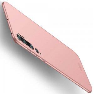 Mofi Slim Armor Матовый жесткий пластиковый чехол для Xiaomi Mi Note 10 - Светло-Розовый