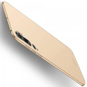 Mofi Slim Armor Матовый жесткий пластиковый чехол для Xiaomi Mi Note 10 - Золотой