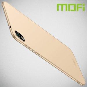 Mofi Slim Armor Матовый жесткий пластиковый чехол для Xiaomi Redmi 7A - Золотой