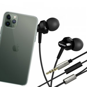 Наушники для iPhone 11 Pro Max с микрофоном