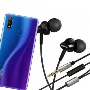 Наушники для Realme 3 Pro с микрофоном
