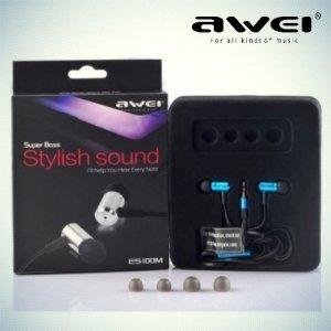Наушники гарнитура с микрофоном Awei ES100i – Синий