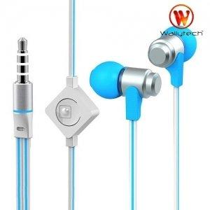 Наушники гарнитура с микрофоном Wallytech WHF-116 Бело синие