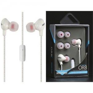 Наушники гарнитура с микрофоном Smartbuy ORB белые