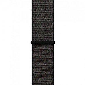 Нейлоновый ремешок на липучке для Apple Watch 42-44mm 2/3/4 Series Черный