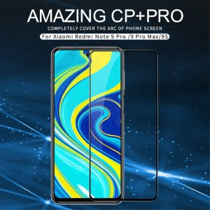 NILLKIN Amazing CP+ Противоударное Полноэкранное Олеофобное Защитное Стекло для Xiaomi Redmi Note 9 Pro (9S,9 Pro Max) Черное