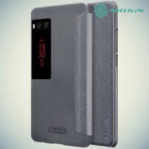Nillkin чехол книжка для Meizu Pro 7 Plus - Sparkle Case Серый