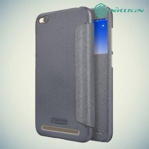 Nillkin чехол книжка с окном для Xiaomi Redmi 5a - Sparkle Case Серый