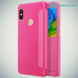 Nillkin чехол книжка с окном для Xiaomi Redmi Note 5 / 5 Pro - Sparkle Case Розовый