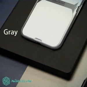 Nillkin Crystal прозрачный силиконовый чехол с жестким пластиковым бампером для iPhone X - Серый