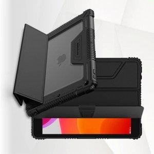 Nillkin Defender Бронированный противоударный двухслойный чехол для iPad 10.2 2019 - Черный
