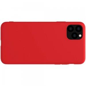 NILLKIN Rubber-wrapped Мягкий силиконовый чехол для iPhone 11 Pro с микрофибровой подкладкой красный