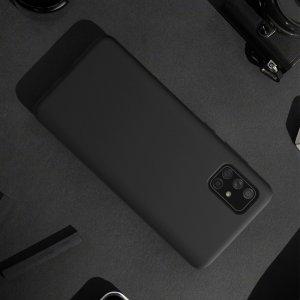 NILLKIN Flex Мягкий силиконовый чехол для Samsung Galaxy A71 с микрофибровой подкладкой черный