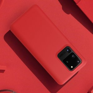NILLKIN Flex Мягкий силиконовый чехол для Samsung Galaxy S20 Ultra с микрофибровой подкладкой черный