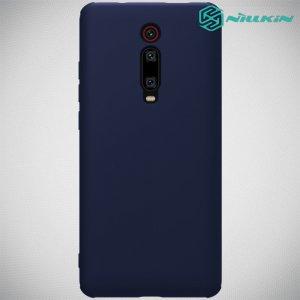 NILLKIN Flex Мягкий силиконовый чехол для Xiaomi Mi 9T с микрофибровой подкладкой синий