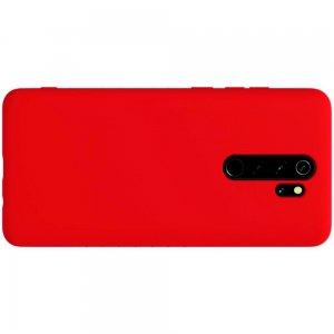 NILLKIN Flex Мягкий силиконовый чехол для Xiaomi Redmi Note 8 Pro с микрофибровой подкладкой красный