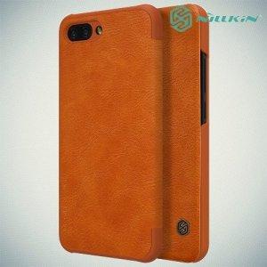 NILLKIN Qin чехол флип кейс для Huawei Honor 10 - Коричневый