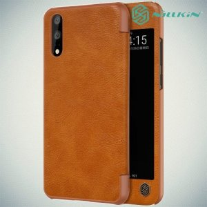 NILLKIN Qin чехол флип кейс для Huawei P20 - Коричневый