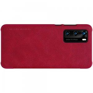 NILLKIN Qin чехол флип кейс для Huawei P40 - Красный