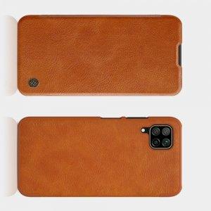 NILLKIN Qin чехол флип кейс для Huawei P40 Lite - Коричневый