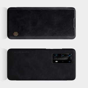 NILLKIN Qin чехол флип кейс для Huawei P40 Pro+ / Pro Plus - Черный
