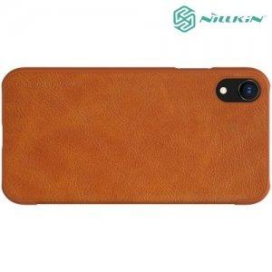 NILLKIN Qin чехол флип кейс для iPhone XR - Коричневый