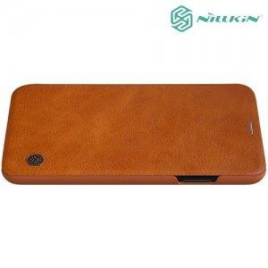 NILLKIN Qin чехол флип кейс для iPhone Xs Max - Коричневый