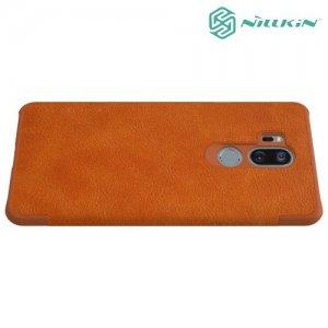 NILLKIN Qin чехол флип кейс для LG G7 ThinQ - Коричневый