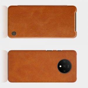 NILLKIN Qin чехол флип кейс для OnePlus 7T - Коричневый