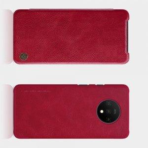 NILLKIN Qin чехол флип кейс для OnePlus 7T - Красный