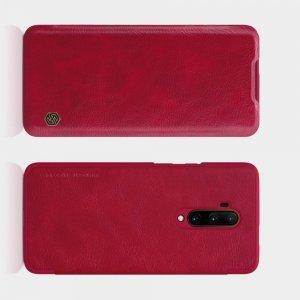 NILLKIN Qin чехол флип кейс для OnePlus 7T Pro - Красный