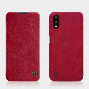 NILLKIN Qin чехол флип кейс для Samsung Galaxy A01 - Коричневый