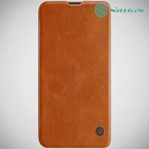 NILLKIN Qin чехол флип кейс для Samsung Galaxy A10 - Коричневый