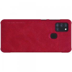 NILLKIN Qin чехол флип кейс для Samsung Galaxy A21s - Красный