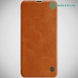 NILLKIN Qin чехол флип кейс для Samsung Galaxy A30 / A20 - Коричневый