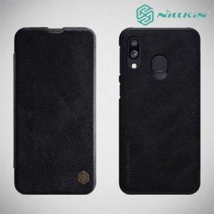 NILLKIN Qin чехол флип кейс для Samsung Galaxy A40 - Черный
