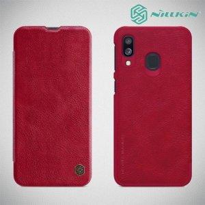 NILLKIN Qin чехол флип кейс для Samsung Galaxy A40 - Красный