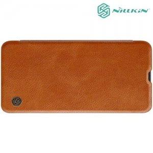 NILLKIN Qin чехол флип кейс для Samsung Galaxy A70 - Коричневый