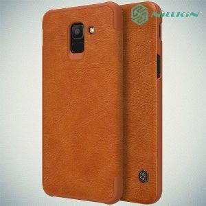 NILLKIN Qin чехол флип кейс для Samsung Galaxy J6 2018 SM-J600F - Коричневый